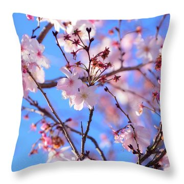 Beautiful Blossoms Blooming  For Spring In Georgia Throw Pillow