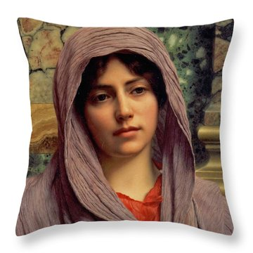 Beautiful Brunette 1918 Throw Pillow by Padre Art