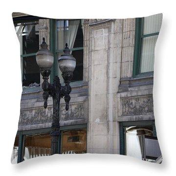 Beautiful Chicago Gothic Grunge Throw Pillow