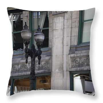 Beautiful Chicago Gothic Grunge Throw Pillow