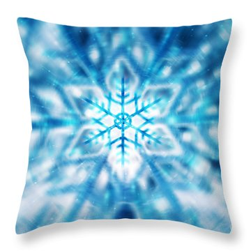 Beautiful Christmas Background Throw Pillow