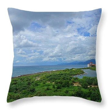 Throw Pillow featuring the photograph Beautiful Coastline Of Southern Taiwan by Yali Shi