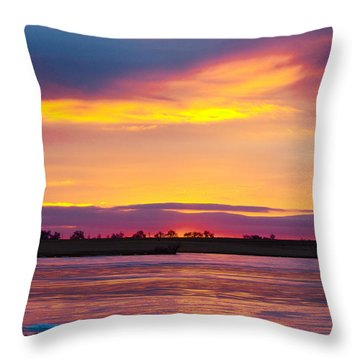 Beautiful Colorful Boulder County Winter Morning Throw Pillow by James BO  Insogna