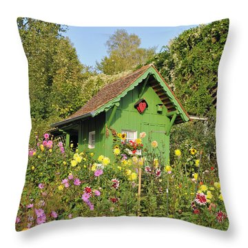 Beautiful Colorful Flower Garden Throw Pillow