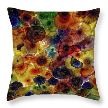 Throw Pillow featuring the photograph Beautiful Colors by Michael Colgate