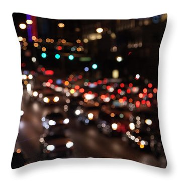 Throw Pillow featuring the photograph Beautiful Congestion by Eric Christopher Jackson
