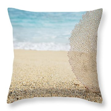 Beautiful Coral Element 1 Throw Pillow by Brandon Tabiolo - Printscapes