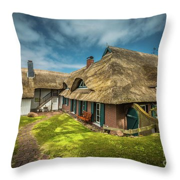 Beautiful Cottage Throw Pillow by Eva Lechner