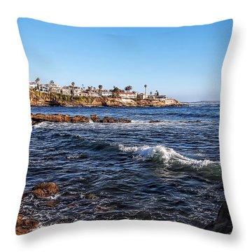 Beautiful Day In La Jolla Throw Pillow