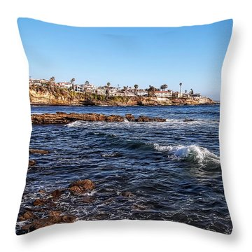 Beautiful Day In La Jolla Throw Pillow by Glenn McCarthy Art and Photography