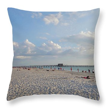 Beautiful Day On Naples Beach Naples Florida Throw Pillow