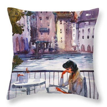 Beautiful Day, Reading Throw Pillow