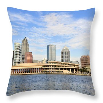 Beautiful Day Tampa Bay Throw Pillow by David Lee Thompson