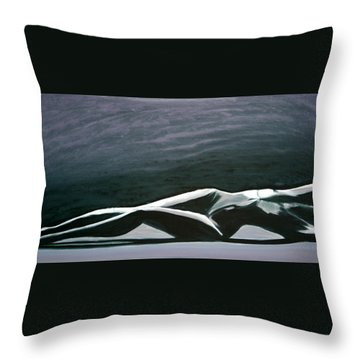 Beautiful Diver Throw Pillow by Jarmo Korhonen aka Jarko