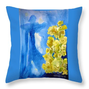 Throw Pillow featuring the painting Beautiful Dreamer by Sandy McIntire