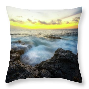 Throw Pillow featuring the photograph Beautiful Ending by Ryan Manuel