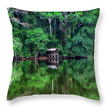 Beautiful Evening On A Lake Throw Pillow