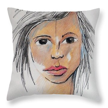 Beautiful Face 68 Throw Pillow