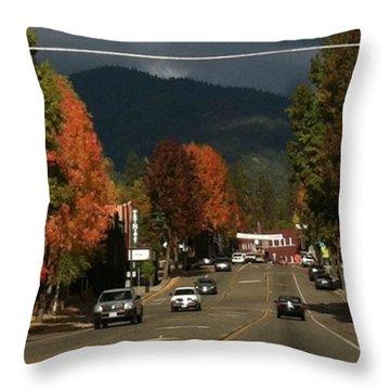 Beautiful Fall Day! Throw Pillow
