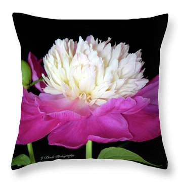 Beautiful Fancy Peony Throw Pillow