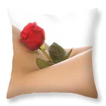 Beautiful Female Body Throw Pillow