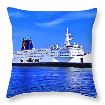 Beautiful Ferry Throw Pillow