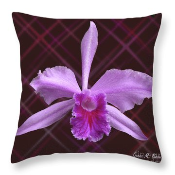 Throw Pillow featuring the photograph Beautiful Floating Orchid by Donna Brown