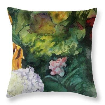 Beautiful Floral Jumble Throw Pillow