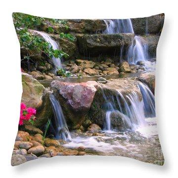 Beautiful Garden  Throw Pillow by Yali Shi