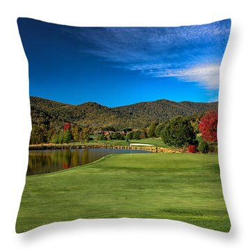 Colorful Golf Throw Pillow