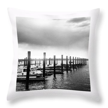 Beautiful Gray Day Throw Pillow by Lauren Fitzpatrick