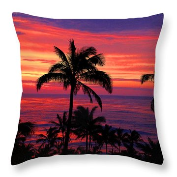 Beautiful Hawaiian Sunset Throw Pillow
