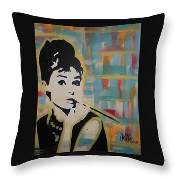 Beautiful Hepburn Throw Pillow