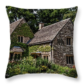 Throw Pillow featuring the photograph Beautiful Home by Joann Copeland-Paul