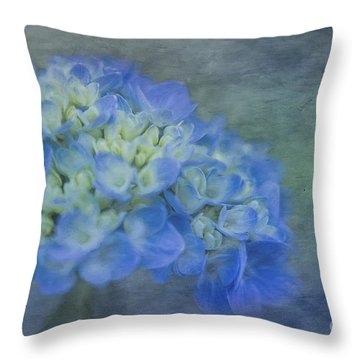 Beautiful In Blue Throw Pillow