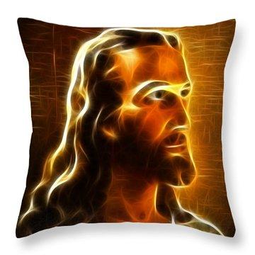 Beautiful Jesus Portrait Throw Pillow by Pamela Johnson