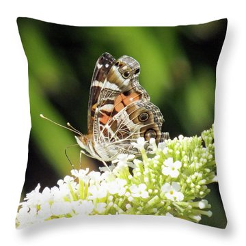 Beautiful Lady - American Lady Throw Pillow