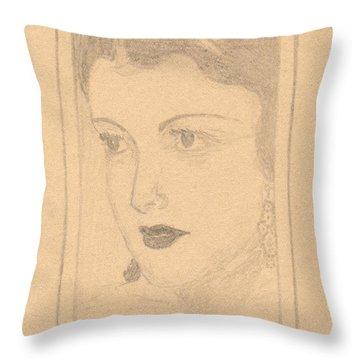 Beautiful Lady Face Throw Pillow