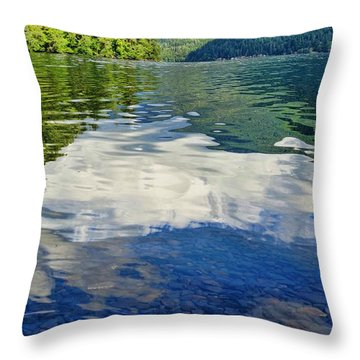Throw Pillow featuring the photograph Beautiful Lake Crescent Washington by Dan Sproul