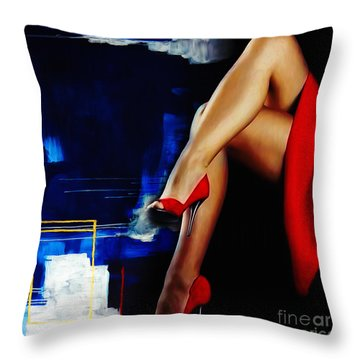 Beautiful Legs 02  Throw Pillow