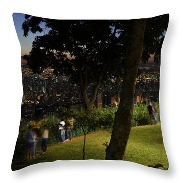 Beautiful Location In Bh #vistapoint Throw Pillow by Carlos Alkmin
