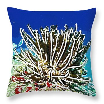 Beautiful Marine Plants 11 Throw Pillow by Lanjee Chee