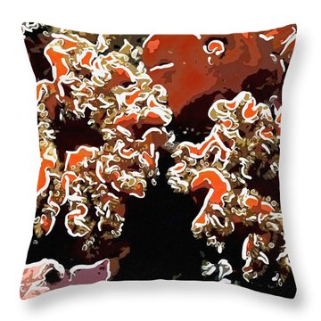 Beautiful Marine Plants 5 Throw Pillow by Lanjee Chee