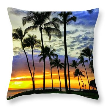 Beautiful Maui Hawaii Sunset Throw Pillow