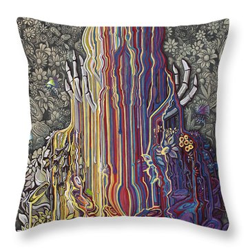 Beautiful Meltdown Throw Pillow
