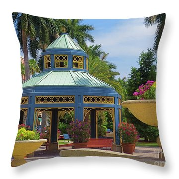 Beautiful Mizner Park In Boca Raton, Florida. #2  Throw Pillow