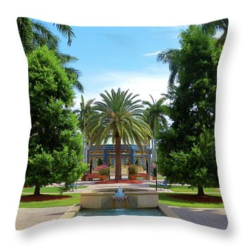 Beautiful Mizner Park In Boca Raton, Florida. #8 Throw Pillow