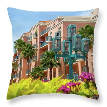 Beautiful Mizner Park In Boca Raton, Florida. #9 Throw Pillow