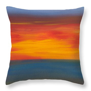 Beautiful Morning Throw Pillow by Bonnie Rabert