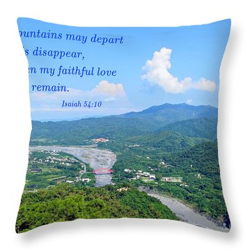 Throw Pillow featuring the photograph Beautiful Mountains And River Of Southern Taiwan by Yali Shi